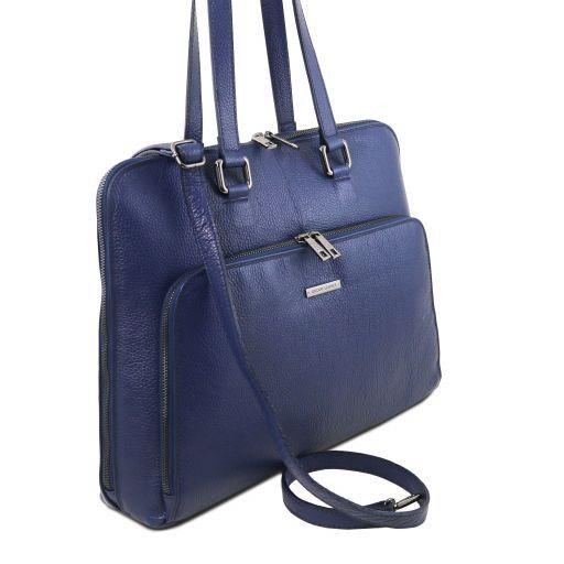 Lucca Damen Business Tasche TL SMART aus weichem Leder Dunkelblau TL141630