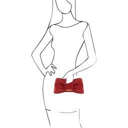 Priscilla Pochette in pelle Rosso TL141358