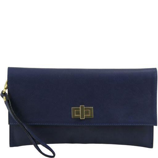 TL Bag Leather clutch Blue TL141109