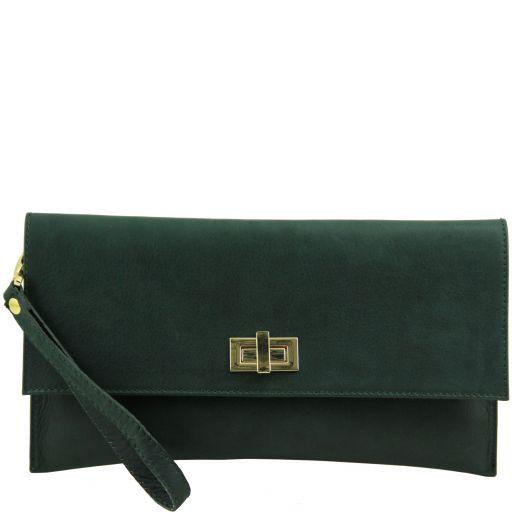 TL Bag Pochette in pelle Verde scuro TL141109