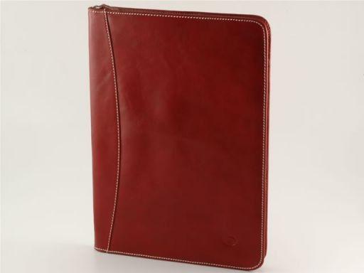 Luigi XIV Portadocumenti in pelle Rosso TL10094