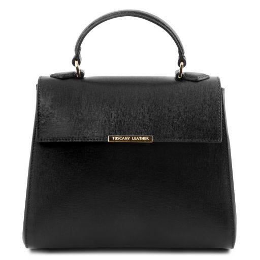 TL Bag Small Saffiano leather duffel bag Black TL141628