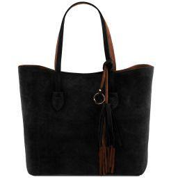 TL Bag Borsa shopper in pelle scamosciata Nero TL141639