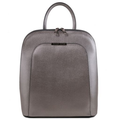 a1c14b6187 Saffiano leather backpack for women - Iron-grey
