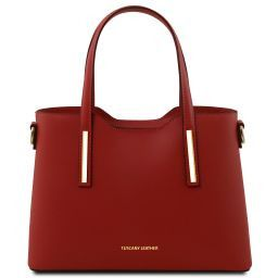 Olimpia Leather tote - Small size Red TL141521