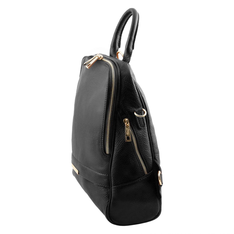 tl bag sac dos pour femme en cuir souple noir tl141376. Black Bedroom Furniture Sets. Home Design Ideas