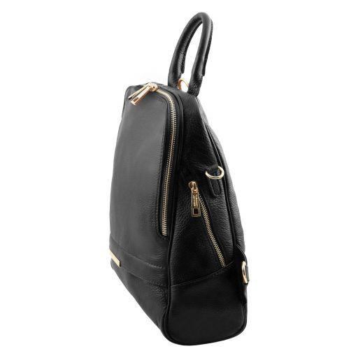TL Bag Zaino donna in pelle morbida Nero TL141376