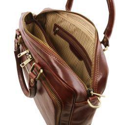 Pisa Cartella in pelle porta notebook con tasca frontale Miele TL141660