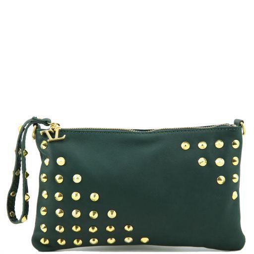 TL Rockbag Borsa con borchie sul manico - Piccola Verde scuro TL141123