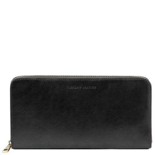 Exclusive leather travel document case Black TL141663