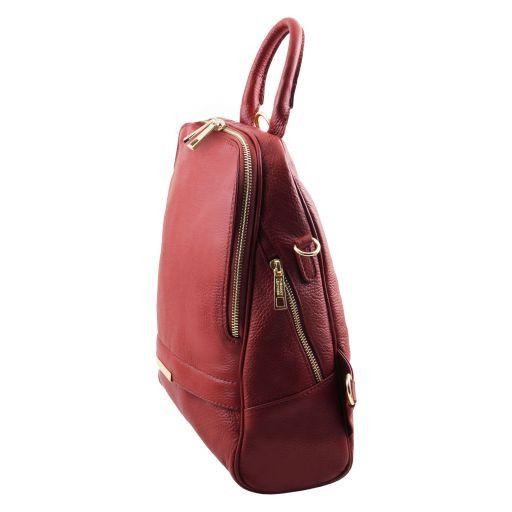 TL Bag Lederrucksack für Damen aus weichem Leder Rot TL141376