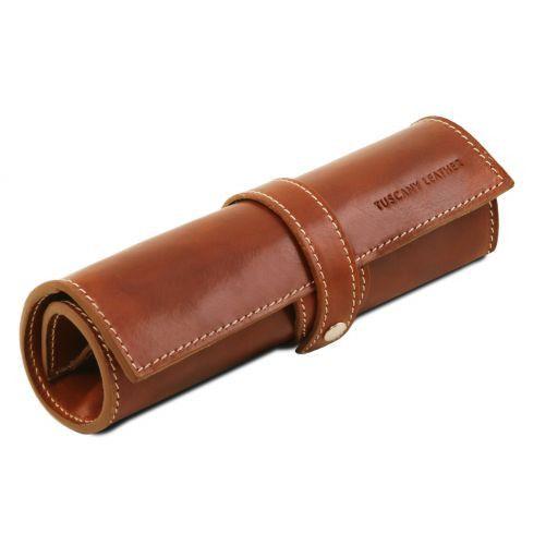 Exclusif étui pour stylos en cuir Miel TL141620