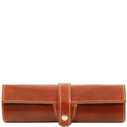 Exclusive leather pen holder Honey TL141620