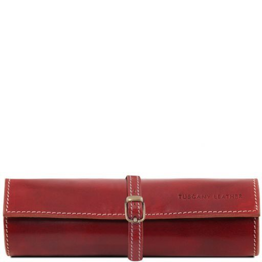 Exclusive leather jewellery case Red TL141621