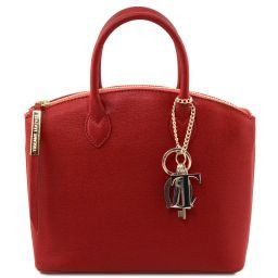 TL KeyLuck Borsa shopper in pelle Saffiano - Misura piccola Rosso TL141265