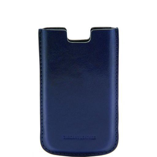 Esclusivo porta iPhone SE/5s/5 in pelle Blu TL141128