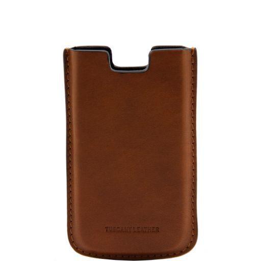 Esclusivo porta iPhone SE/5s/5 in pelle Miele TL141128