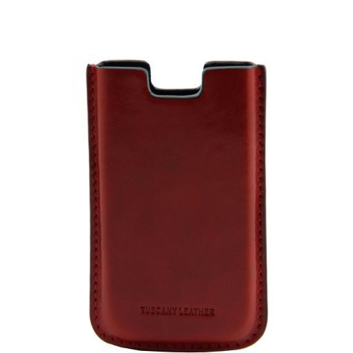 Leather iPhone SE/5s/5 holder Red TL141128