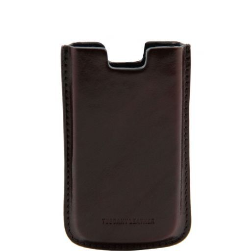 Leather iPhone SE/5s/5 holder Dark Brown TL141128
