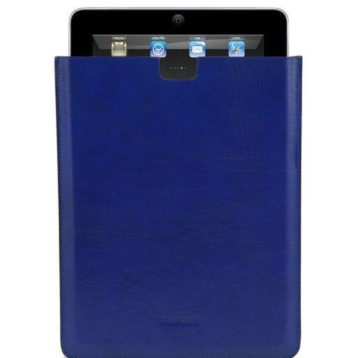 Esclusivo porta iPad in pelle Blu TL141129
