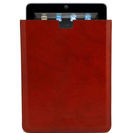 Etui pour iPad en cuir Brique TL141129