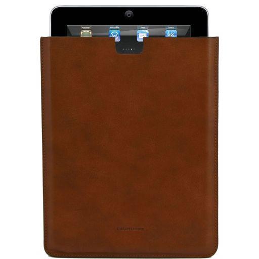 Esclusivo porta iPad in pelle Miele TL141129