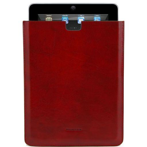 Esclusivo porta iPad in pelle Rosso TL141129