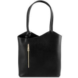 Patty Borsa donna convertibile a zaino in pelle Saffiano Nero TL141455