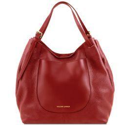 Cinzia Borsa shopping in pelle morbida Rosso TL141515