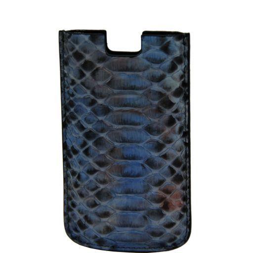 Эксклюзивный чехол для iPhone SE/5s/5 из кожи питона Светло-голубой TL141130