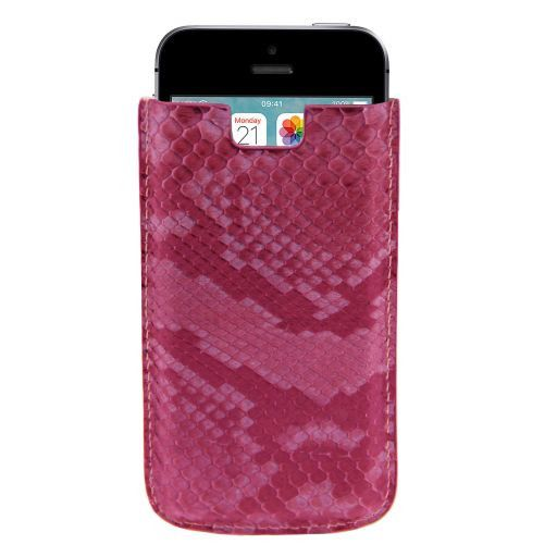 Python leather iPhone SE/5s/5 holder Pink TL141130