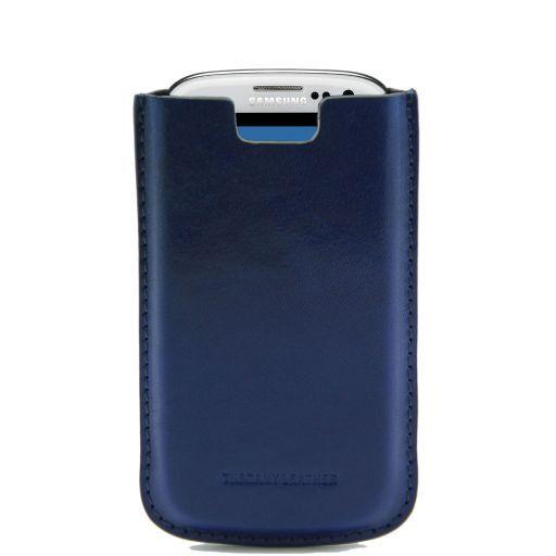 Esclusivo porta Galaxy S3 in pelle Blu TL141140