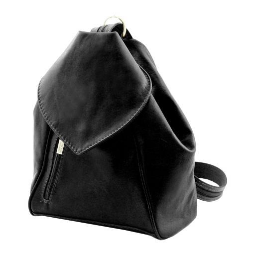 Delhi Leather backpack Black TL140962