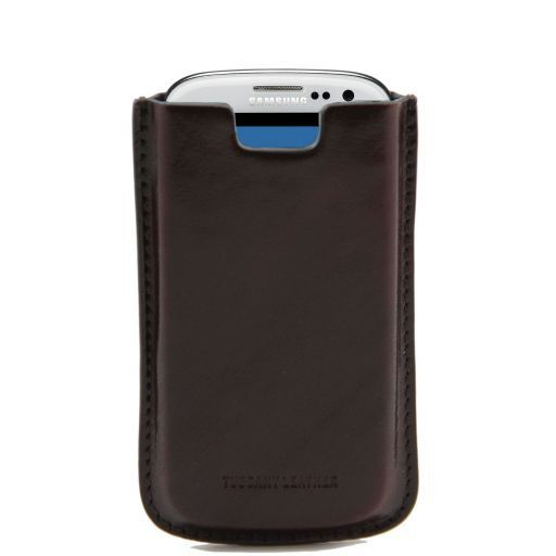 Galaxy S3 Etui aus Leder Dunkelbraun TL141140
