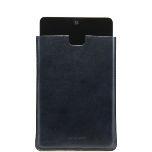 Porta iPad Mini in pelle Blu TL141141