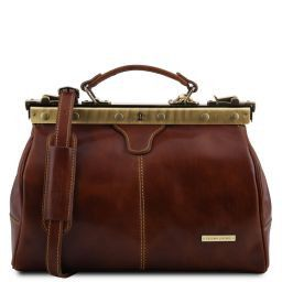 Michelangelo Doctor gladstone leather bag Brown TL10038