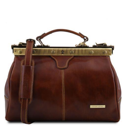 Michelangelo Doctor gladstone leather bag Brown TL10038