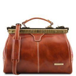 Michelangelo Maulbügel- Arzttasche aus Leder Honig TL10038
