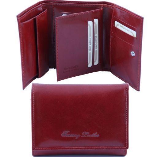 Esclusivo portafogli in pelle da donna Rosso TL141142