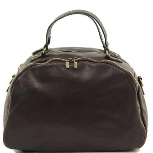 TL Sporty Weekend Bag en cuir Marron foncé TL141149