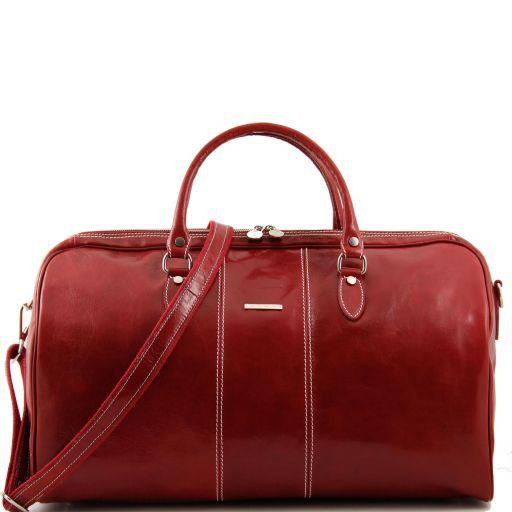 Lisbona Дорожная кожаная сумка-даффл Красный TL10131
