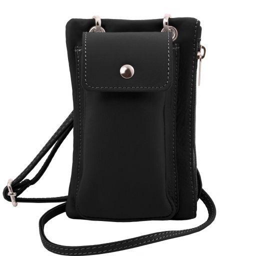 TL Bag Bolsillo Porta móvil en piel suave Negro TL141423