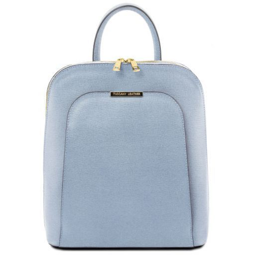 87d67ce12b Saffiano leather backpack for women - Light Blue