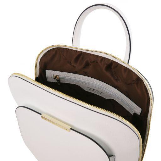 TL Bag Zaino donna in pelle Saffiano Bianco TL141631