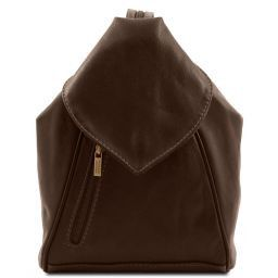 Delhi Leather backpack Dark Brown TL140962
