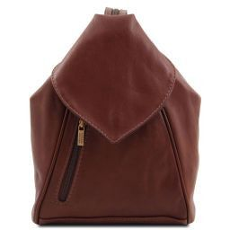 Delhi Leather backpack Brown TL140962
