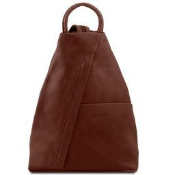 Shanghai Leather backpack Brown TL140963