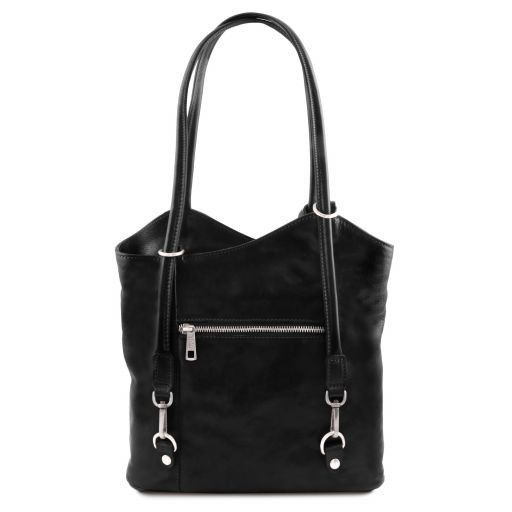 Patty Borsa donna in pelle convertibile a zaino Nero TL141497