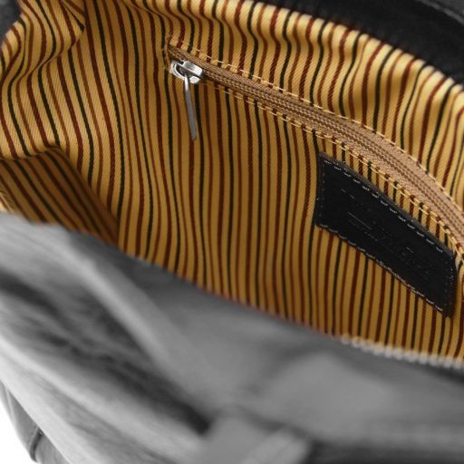 Patty Женская кожаная сумка-рюкзак 2 в 1 Черный TL141497