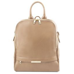 TL Bag Soft leather backpack for women Light Taupe TL141376